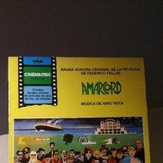 Discos de vinilo: AMARCORD BANDA SONORA NINO ROTA . Lote 105364827