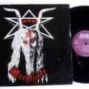 Discos de vinilo: WITCHFYNDE. GIVE 'EM HELL. LP BELLAPHON 206.07.014. GERMANY 1980. . Lote 85327164