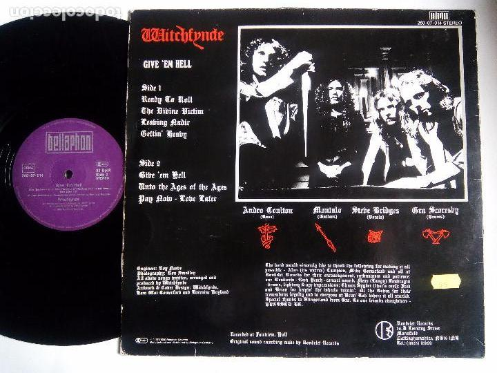 Discos de vinilo: WITCHFYNDE. GIVE EM HELL. LP BELLAPHON 206.07.014. GERMANY 1980. - Foto 2 - 85327164