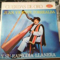 Discos de vinilo: RAPSODIA LLANERA - EL MAESTRO JUAN VICENTE TORREALBA CARACAS VINILO LP. Lote 85327304