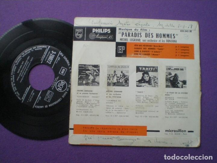 Discos de vinilo: PARADIS DES HOMMES -- Michel Legrand -EP FRANCES RCA 1950s // CHEESECAKE SEXY NUDE COVER - Foto 2 - 85335560