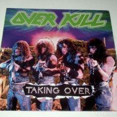 Discos de vinilo: LP OVERKILL - TAKING OVER. Lote 51256072