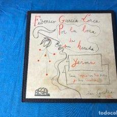 Discos de vinilo: FEDERICO GARCIA LORCA - YERMA (POEMA TRAGICO EN 3 ACTOS) 2 X LP'S. Lote 85360588