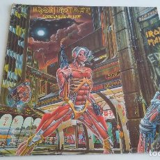 Discos de vinilo: VINILO/LP-IRON MAIDEN/SOMEWHERE IN TIME/HEAVY METAL.. Lote 85383228