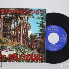 Discos de vinilo: DISCO EP DE VINILO - LOS MUSTANG. SANREMO 1965. SE PIANGI, SE RIDI... - EMI / REGAL, 1965. Lote 85401116