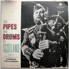 Dischi in vinile: THE QUEEN'S OWN CAMERON HIGHLANDERS - THE PIPES & DRUMS OF SCOTLAND - LP LONDON RECORDS 1960 UK BPY. Lote 85424912