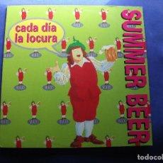 Discos de vinilo: MAXI NACHO GARCIA VEGA - CADA DIA LA LOCURA - CRUZCAMPO 1995 . Lote 85429116
