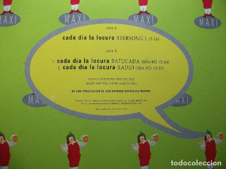 Discos de vinilo: MAXI NACHO GARCIA VEGA - CADA DIA LA LOCURA - CRUZCAMPO 1995 PEPETO - Foto 2 - 85429116