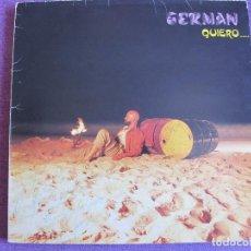 Discos de vinilo: LP - GERMAN - QUIERO... (SPAIN, GGSM RECORDS 1984). Lote 85431028