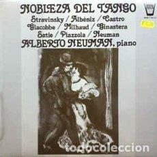 Discos de vinilo: NOBLEZA DEL TANGO - ALBERTO NEUMAN PIANO - LP. Lote 85465768