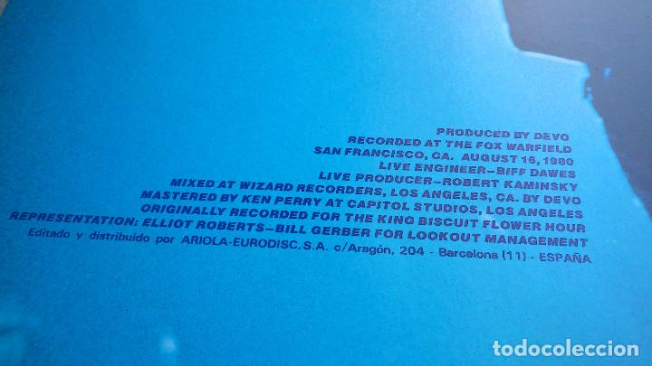 Discos de vinilo: DEVO - LIVE - LP - 1982 - ARIOLA - Foto 8 - 85471332