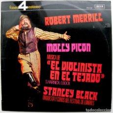 Discos de vinilo: EL VIOLINISTA EN EL TEJADO - ROBERT MERRILL, MOLLY PICON, STANLEY BLACK - LP DECCA 4 FASES 1972 BPY. Lote 85504824