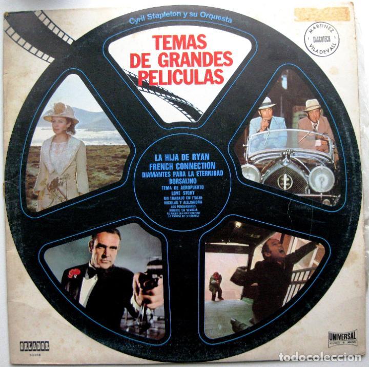 CYRIL STAPLETON Y SU ORQUESTA - TEMAS DE GRANDES PELICULAS - LP ORLADOR / UNIVERSAL 1972 CÍRCULO BPY (Música - Discos - LP Vinilo - Bandas Sonoras y Música de Actores )