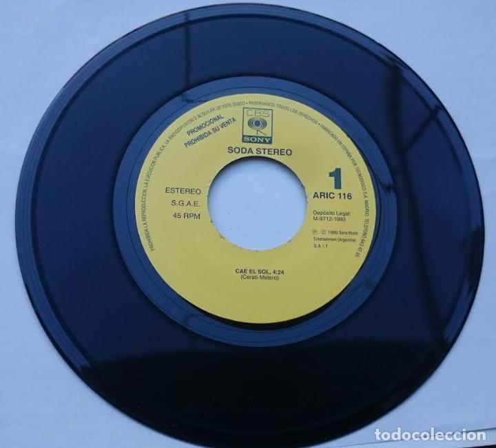 Discos de vinilo: SODA STEREO (GUSTAVO CERATI) - CAE EL SOL (PROMO 1992) - Foto 2 - 57115443