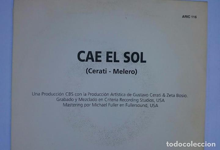 Discos de vinilo: SODA STEREO (GUSTAVO CERATI) - CAE EL SOL (PROMO 1992) - Foto 3 - 57115443