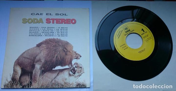Discos de vinilo: SODA STEREO (GUSTAVO CERATI) - CAE EL SOL (PROMO 1992) - Foto 4 - 57115443