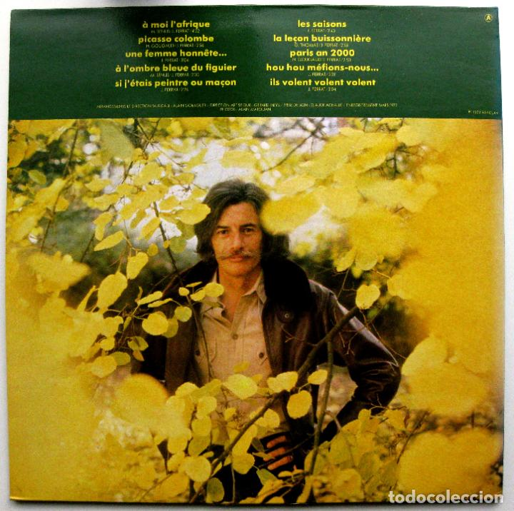 Discos de vinilo: Jean Ferrat - Jean Ferrat (À Moi LAfrique) - LP Barclay 1978 Reedición Francia BPY - Foto 2 - 85542128