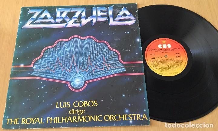 LUIS COBOS - ZARZUELA - LP VINYL CBS 1982 - THE ROYAL PHILHARMONIC ORCHESTRA (Música - Discos de Vinilo - EPs - Clásica, Ópera, Zarzuela y Marchas)