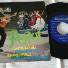 Discos de vinilo: 9-SINGLE PERET, CASTIGADORA. Lote 85559940