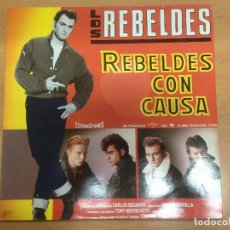 Discos de vinilo: LP PROMOCIONAL LOS REBELDES /REBELDES CON CAUSA . Lote 85597352