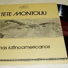 Discos de vinilo: TETE MONTOLIU ?– TEMAS LATINOAMERICANOS LP 1974 ENSAYO. Lote 85648272