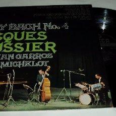 Discos de vinilo: JACQUES LOUSSIER - CHRISTIAN GARROS - PIERRE MICHELOT ?– PLAY BACH Nº 4 LP DECCA 1964 ORIGINAL PARÍS. Lote 85657940