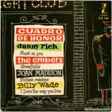 Discos de vinilo: DANNY RICH, THE EMBERS, JOAN MADISON, BOLLY WADE - CUADRO DE HONOR - EP SPAIN 1960. Lote 85699080