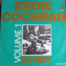 Discos de vinilo: LP - EDDIE COCHRAN - STORY VOL. 1 (FRANCE, UA RECVORDS SIN FECHA). Lote 85716352