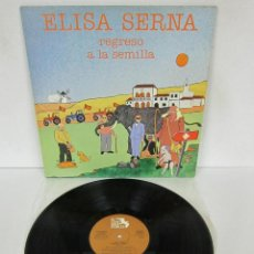 Discos de vinilo: ELISA SERNA - REGRESO A LA SEMILLA - LP - EL CANTS DELS POBRES 1979 SPAIN - NUEVO. Lote 85723512