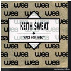 Discos de vinilo: KEITH SWEAT - MAKE YOU SWEAT - SINGLE 1990 - PROMO. Lote 85734232