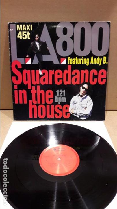 L.A.800. SQUAREDANCE IN THE HOUSE. MAXI-SG / OURAGAN - 1990 / MBC. ***/*** (Música - Discos de Vinilo - Maxi Singles - Techno, Trance y House)