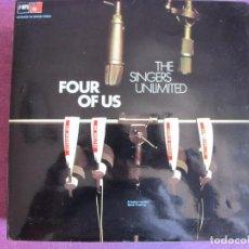 Discos de vinilo: LP - THE SINGERS UNLIMITED - FOUR OF US (SPAIN, BASF 1975, PORTADA DOBLE). Lote 85750868