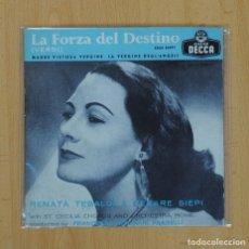 Discos de vinilo: RENATA TEBALDI & CESARE SIEPI - LA FORZA DEL DESTINO (VERDI) - SON GIUNTA +3. Lote 85752895