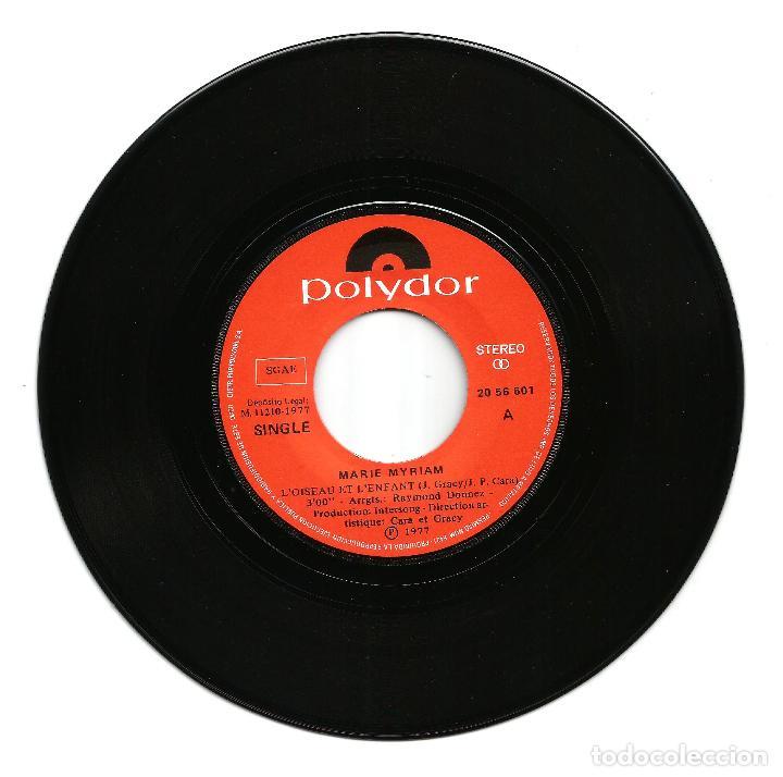 Discos de vinilo: MARIE MYRIAM (SG) 1977 - GANADORA FESTIVAL EUROVISION 1977 - L'OISEAU ET L'ENFANT - Foto 2 - 24719826