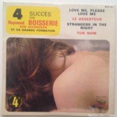 Discos de vinilo: 4 SUCCES PAR RAYMOND BOISSERIE SON ACORDEON ET SA GRANDE FORMATION. Lote 85795192