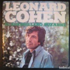 Discos de vinilo: LEONARD COHEN SG CBS 1971 EL GUERRILERO/ SUZANNE . Lote 85805384