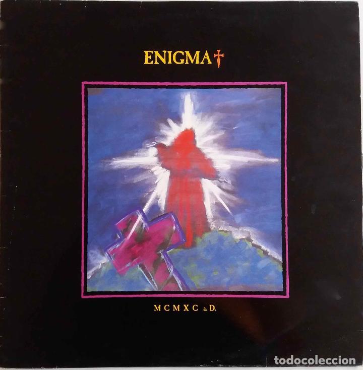 ENIGMA. MCAXC A.D. - LP ESPAÑA CON FUNDA INTERIOR CON LETRAS (Música - Discos - LP Vinilo - Techno, Trance y House)