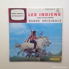 Discos de vinilo: B.S.O: ARMAND MIGIANI:LES INDIENS.PHILIPS /FRANCE. Lote 85851652