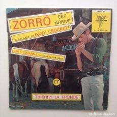 Discos de vinilo: NOEL CHIBOUST:JAQUES HELIAN & SES COWBOYS: ZORRO EST ARRIVE TRIANON/FRANCE. Lote 85852632