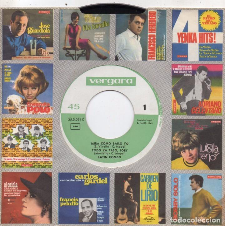 Discos de vinilo: LATIN COMBO, EP, MIRA COMO BAILO YO + 3, AÑO 1963 - Foto 3 - 85885756