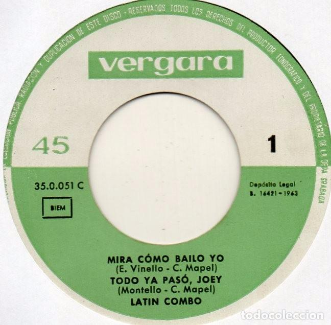Discos de vinilo: LATIN COMBO, EP, MIRA COMO BAILO YO + 3, AÑO 1963 - Foto 4 - 85885756