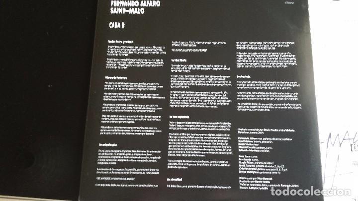 Discos de vinilo: LP FERNANDO ALFARO: SAINT-MALO (FIRMADO Y DEDICADO POR ALFARO) - Foto 3 - 85909660