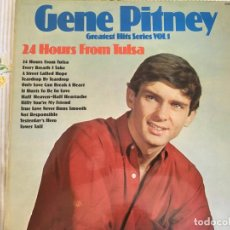 Discos de vinilo: LP GENE PITNEY-24 HOURS FROM TULSA-GREATEST HITS. Lote 85911264