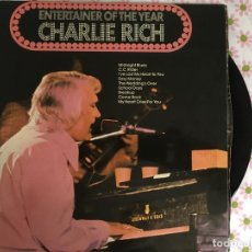 Discos de vinilo: LP CHARLIE RICH-ENTERTAINER OF THE YEAR. Lote 85913348
