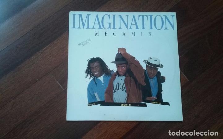 IMAGINATION-MEGAMIX.MAXI ESPAÑA (Música - Discos de Vinilo - Maxi Singles - Disco y Dance)