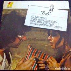Discos de vinilo: PAU RIBA, JAUME SISA Y XAVIER RIBA, MÚSICA DE LA PELÍCULA 3 X 4 - EP PROMOCIONAL. Lote 34665284