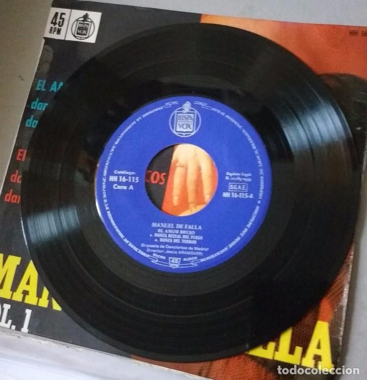 Discos de vinilo: MANUEL DE FALLA VOL.1 - EL AMOR BRUJO, EL SOMBRERO DE TRES PICOS - DIRECTOR: JESÚS ARAMBARRI - EP - Foto 2 - 85939628