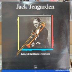 Discos de vinilo: JACK TEAGARDEN. KING OF THE BLUES TROMBONE. MAESTROS DEL JAZZ. LP. Lote 85964928