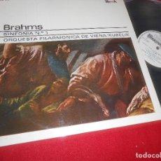Discos de vinilo: FILARMONICA DE VIENA/KUBELIK BRAHMS SINFONIA Nº 1 LP 1973 ACE OF DIAMONDS PROMO SPAIN. Lote 85977044