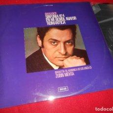FILARMONICA DE LOS ANGELES ZUBIN MEHTA SINF.Nº4 ROMANTICA BRUCKNER LP 1972 DECCA SPAIN